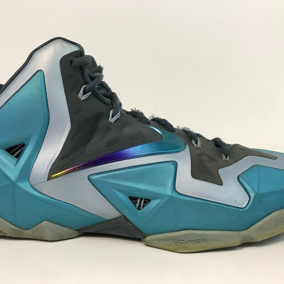the latest 74599 5a3ff NIKE LeBron XI 11 Basketball Shoe Gamma Blue 11 M